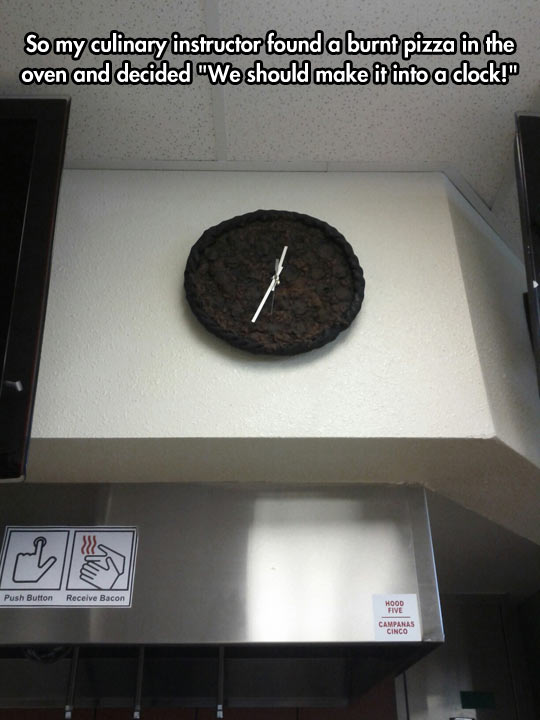Burnt Pizza Clock