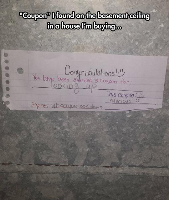 You Won A Coupon