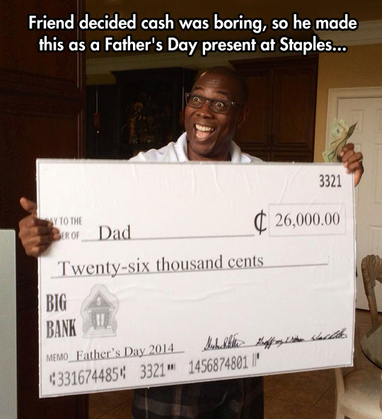 Who Gives Cash For Fathers Day?