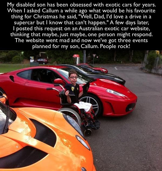 funny-disabled-son-exotic-car-birthday