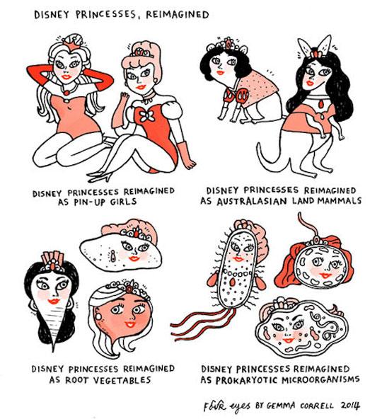 Re-Imagined Disney Princesses