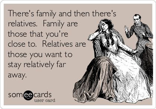 Family Vs. Relatives