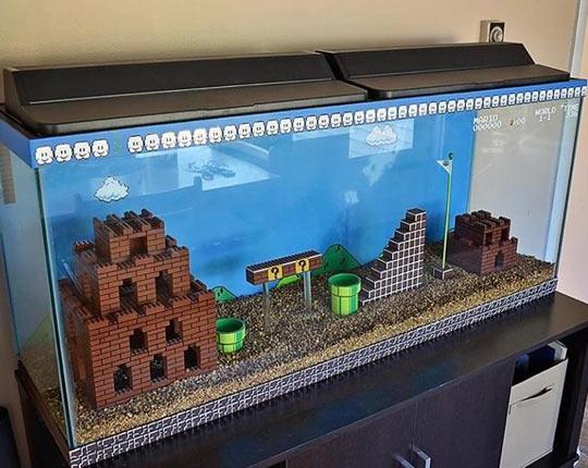 funny-fish-tank-Mario-Bros