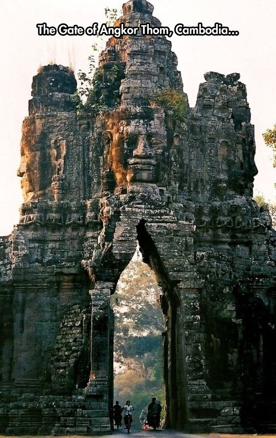 The Old Gate Of Angkor Thom