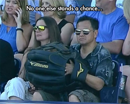 Big baseball glove