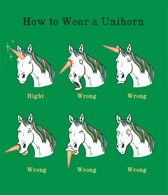 Wearing A Unihorn Properly