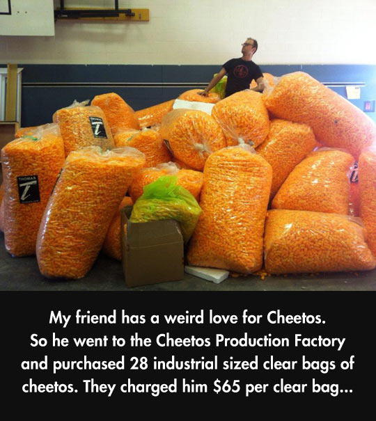 Some People Have An Irrational Love For Cheetos