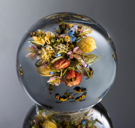 funny-marble-bee-hive-flower