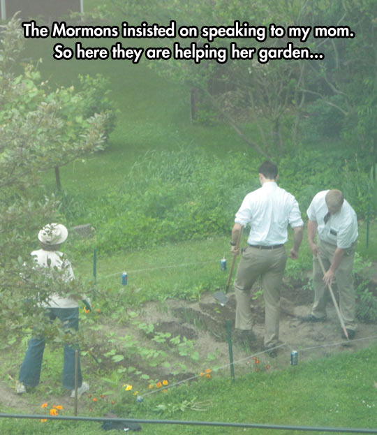 Lovely Mormon Missionaries