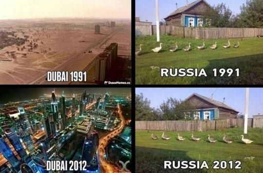 funny-now-then-Russia-Dubai-city