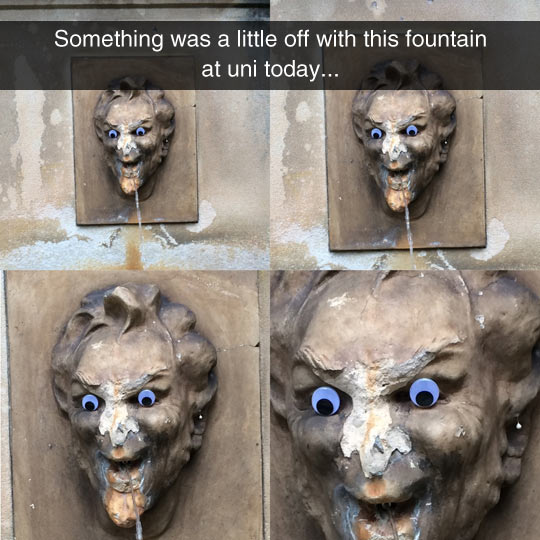 This Fountain Is Making Me Feel Uncomfortable