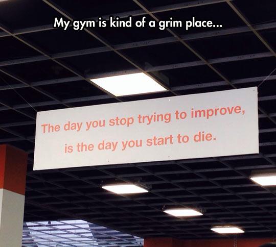 cool gym sign