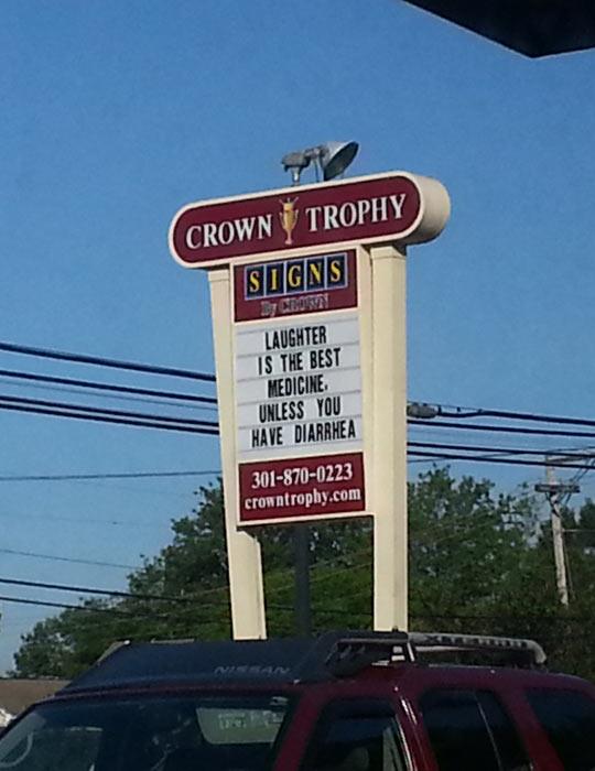 funny-sign-laughter-medicine-Crown-Trophy