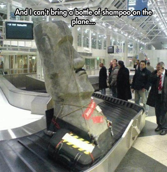 funny-statue-Moai-airport-bags