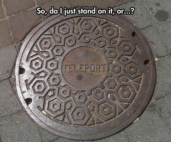 funny-street-teleport-sign-door