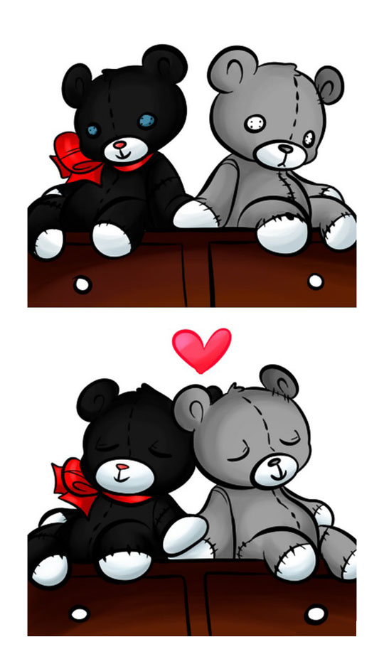 funny-webcomic-bear-fixing-Teddy-pieces-heart-love