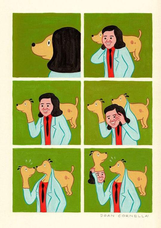 funny-webcomic-dog-puppet-head-woman