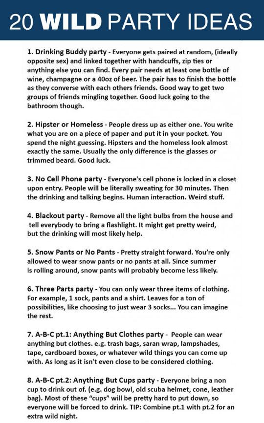 Wild Party Ideas