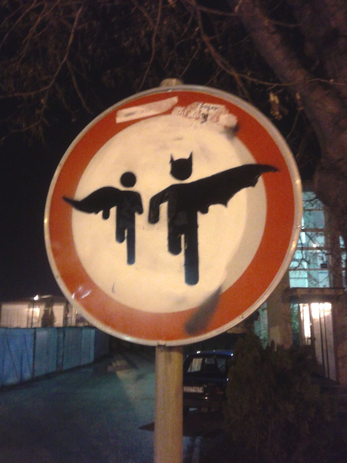 A traffic sign in Serbia