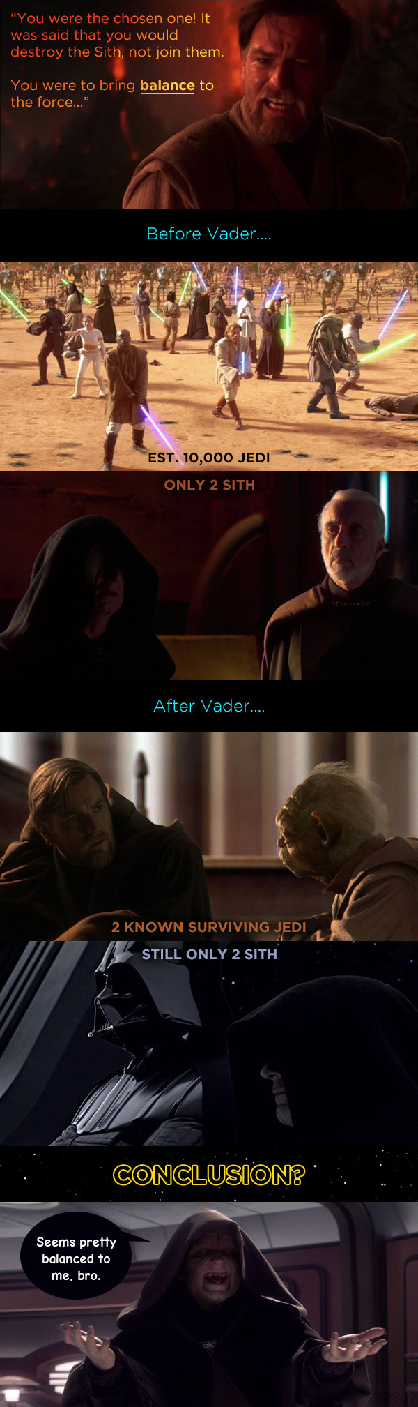 The 'balance-to-the-force' prophecy always bothered me