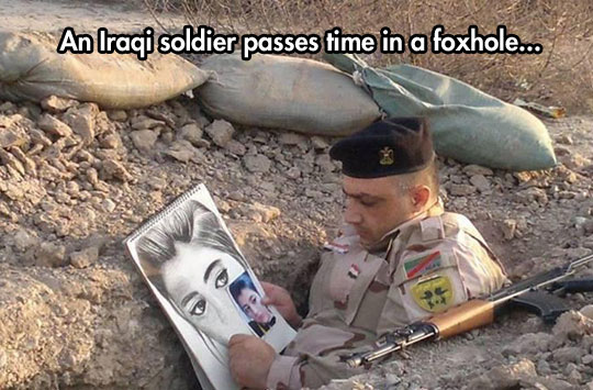 cool-Iraqi-soldier-drawing-foxhole-war