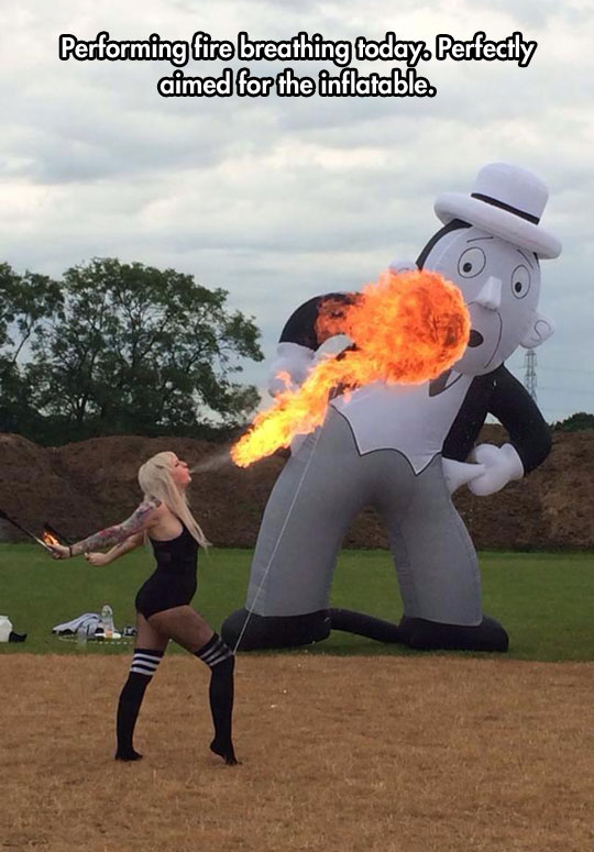 The Fire Breathing Lady