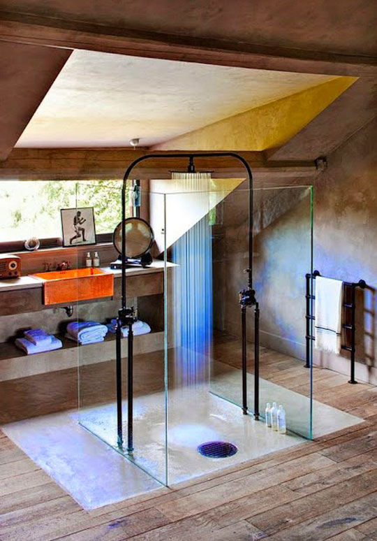 cool-glass-shower-design-wood