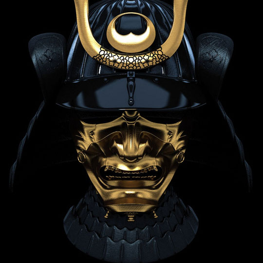 cool-gold-Samurai-mask-black