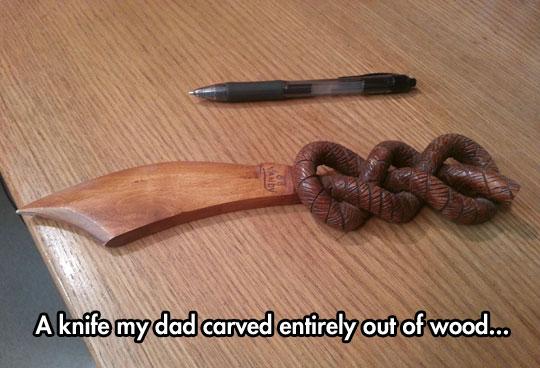 Carved Wood Knife
