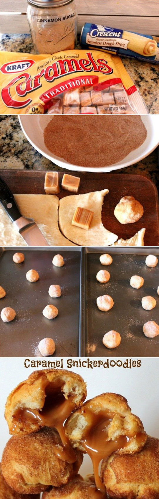 Caramel Snickerdoodles Recipe