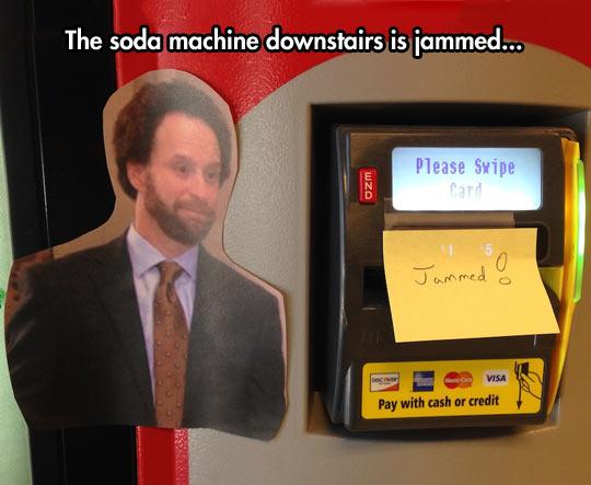 Jammed Soda Machine
