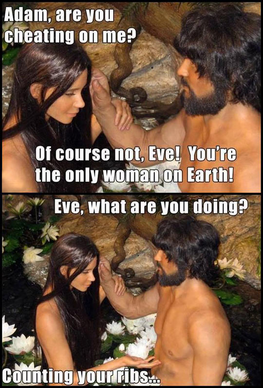 funny-Adam-Eve-museum-talking