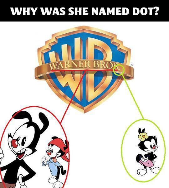 funny-Animaniacs-Warner-Bros-logo-Dot