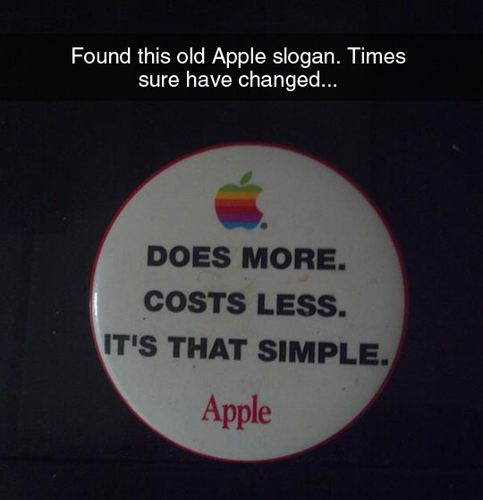 How Things Have Changed In Apple