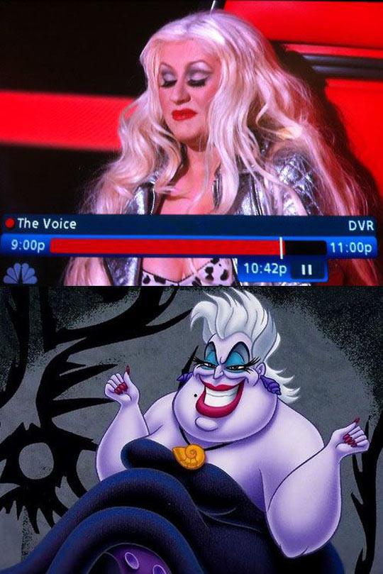 funny-Christina-Aguilera-Ursula-alike