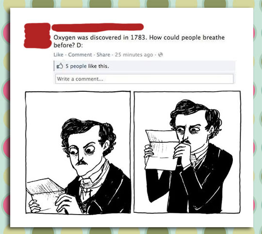 funny-Facebook-comment-oxygen-discovery-Allan-Poe