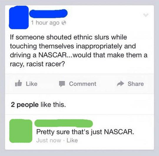 funny-Facebook-status-NASCAR-racer