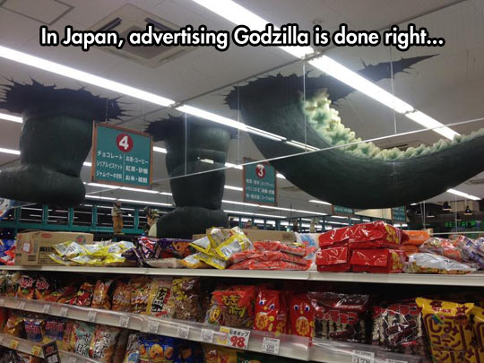 Godzilla Advertising Done Right