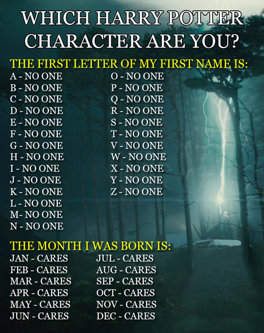 Find Out Which Harry Potter Character You Are