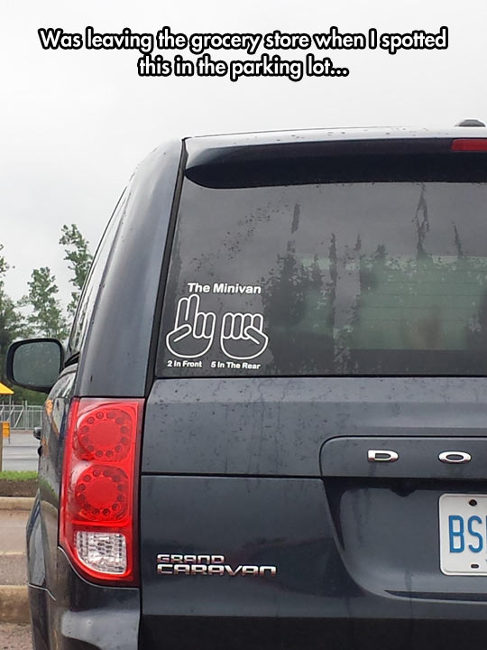 The Best Minivan Sticker Ever