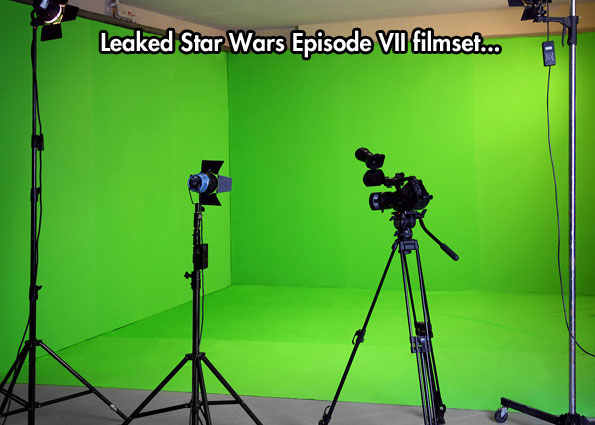 funny-Star-Wars-leaked-filmset-green-screen