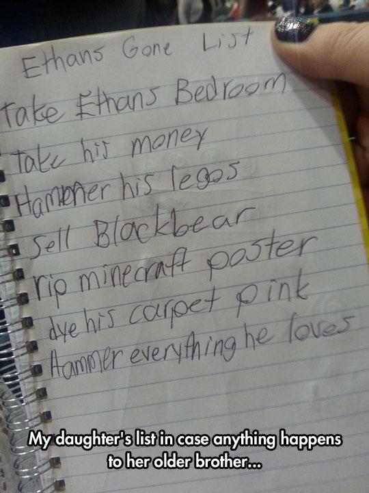 Little girl list
