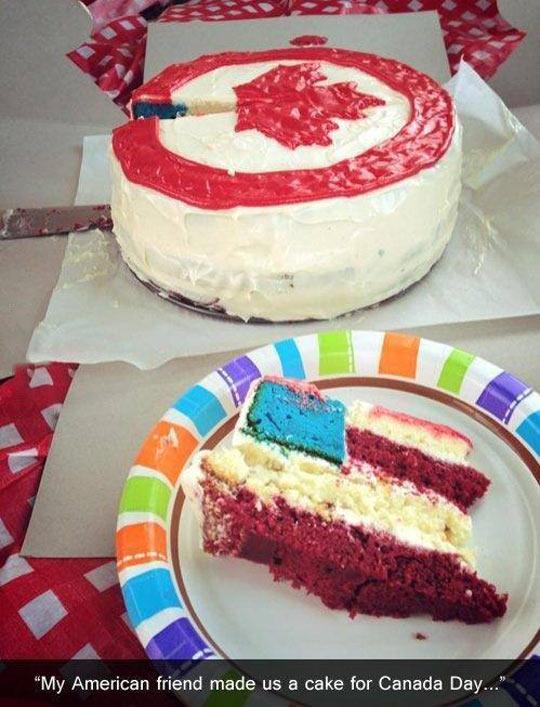 funny-cake-Canada-USA-friend
