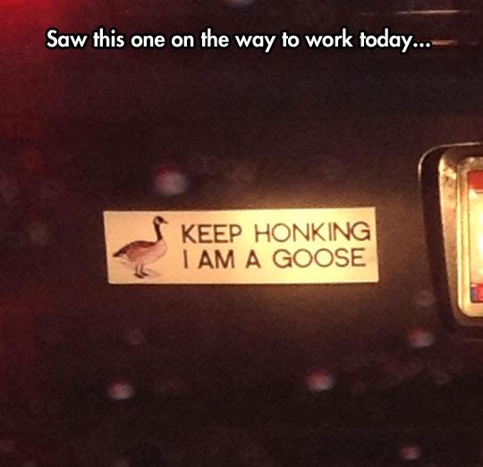 Just Keep Honking