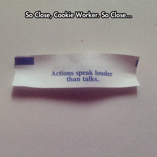 Keep Trying Fortune Cookie