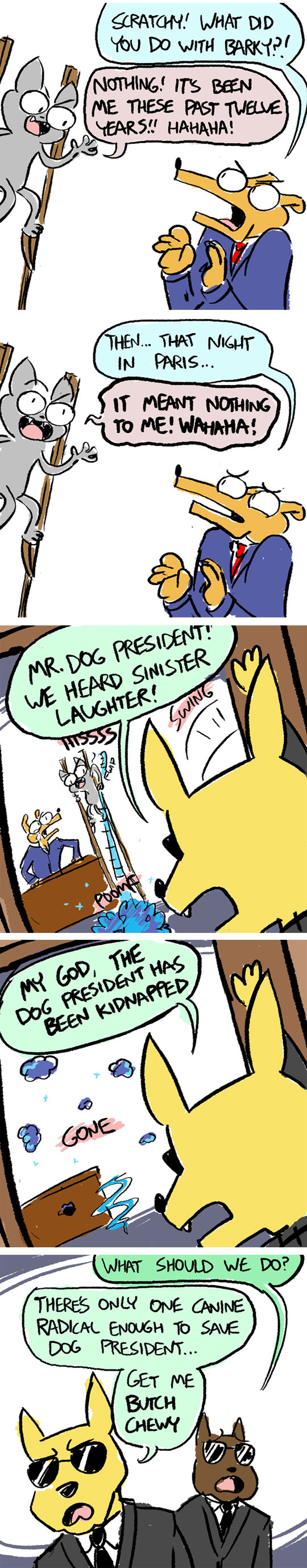 funny-dog-president-kidnapped-evil-cat-comic