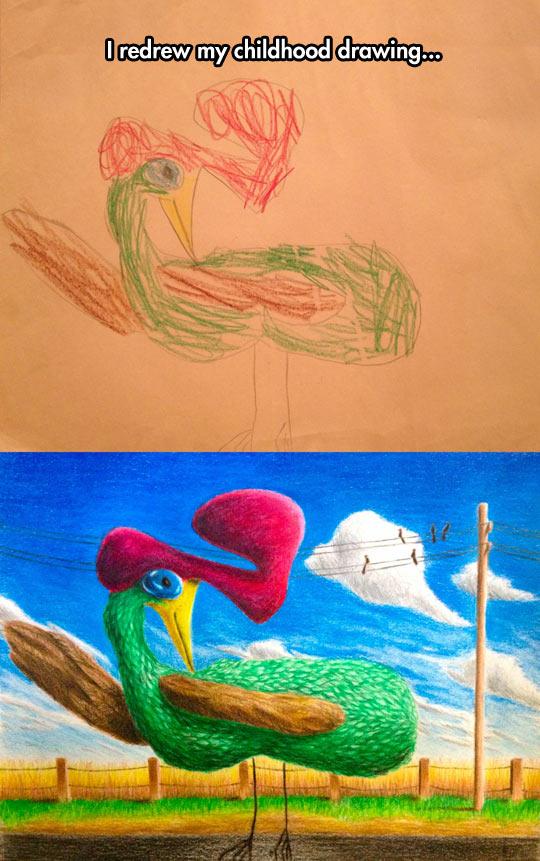 funny-drawing-childhood-chicken-redrew