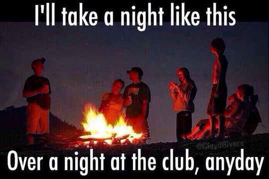 funny-fire-friends-mountain-club
