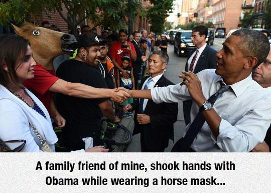 funny-horse-mask-Obama-hand-shake