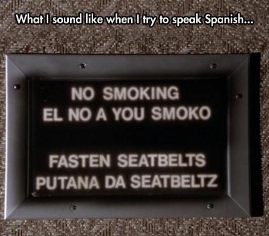 Trying To Speak Spanish